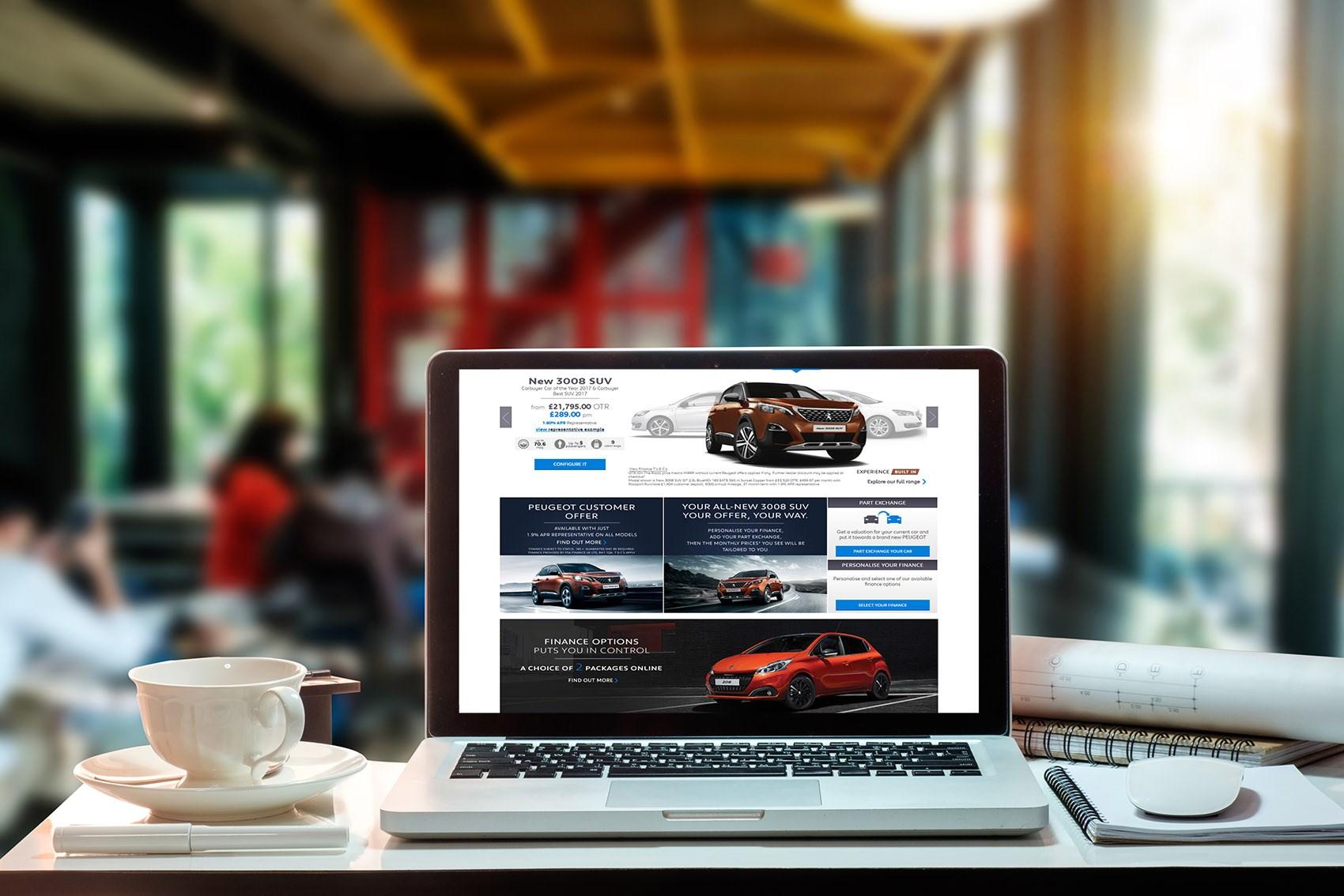 peugeot begins to sell cars online caragogo. Black Bedroom Furniture Sets. Home Design Ideas